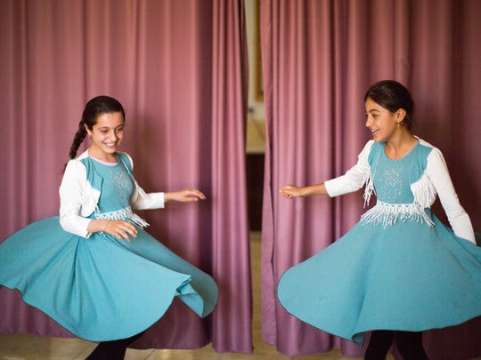After studying dance under Belhaven University student Lydia Mathis, the children at a refugee camp in northern Iraq performed for their families and friends.