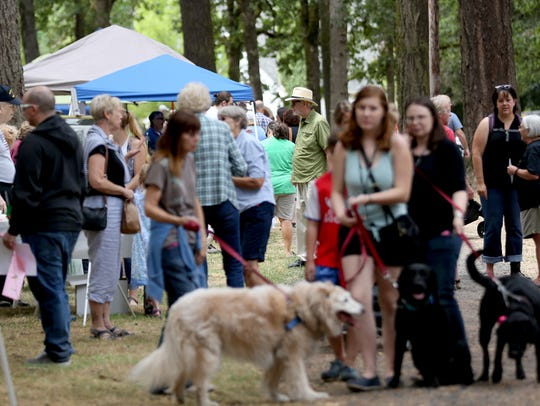 People attend the Englewood Forest Festival at Englewood