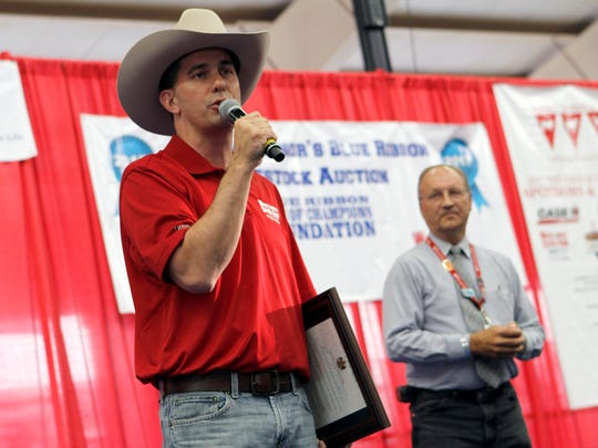 """Governor Scott Walker declares Ben Brancel day at the Wisconsin State Fair on Aug. 9 in recognition of of the Wisconsin Department of Agriculture, Trade and Consumer Protection Secretary's Aug. 13 retirement. Walker said Brancel """"has poured his heart and soul"""" into leading the agency and is """"someone who loves and cares for farm families."""""""