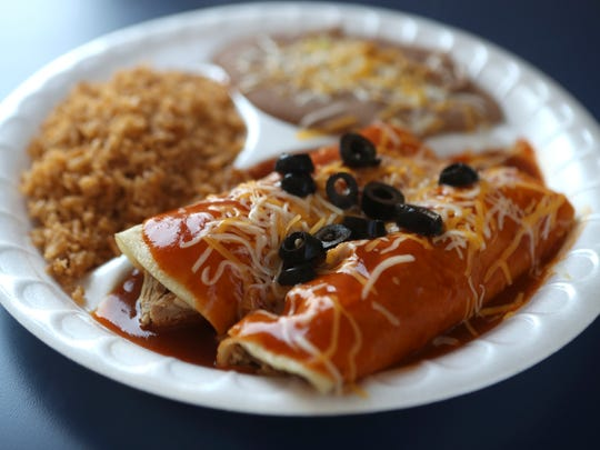 The chimichanga plate at La Taqueria Mexican. The restaurant offers Mexican and Asian dishes.