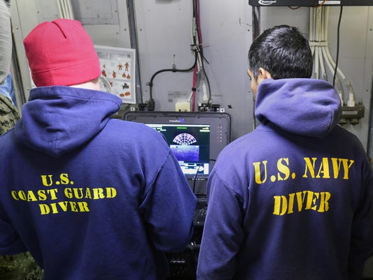 Coast Guard, Navy divers aboard Coast Guard Cutter Healy locate wreckage of fishing vessel Destination with remote operated vehicle near St. George, Alaska