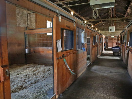 This is the IMPD Mounted Patrol barn, Thursday, August