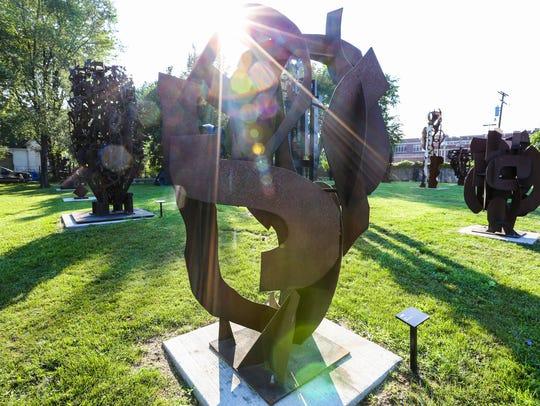 City Sculpture park is where Robert Sestok keeps his