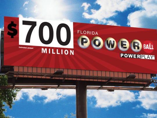 The Powerball jackpot has climbed to $700 million.