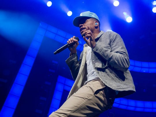 Chance the Rapper performs at the Palace at Auburn Hills on Thursday, May 18, 2017 in Auburn Hills.