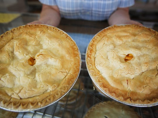 Peach pies will be plentiful in Romeo this weekend.