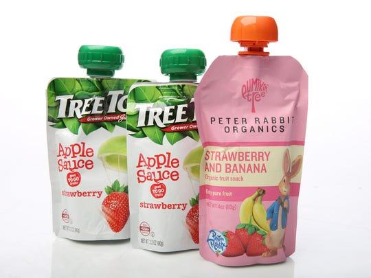 Tree Top applesauce and a Peter Rabbit Organic fruit