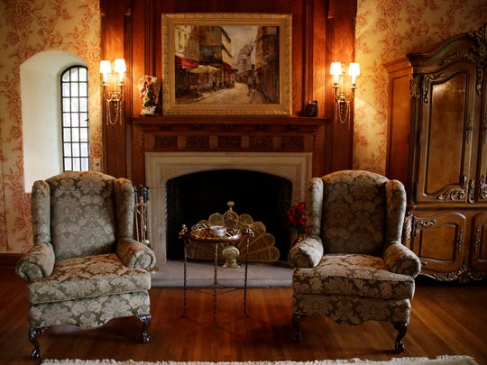 The Great Room in this Grosse Pointe Farms home built in 1929 by Walter Briggs.