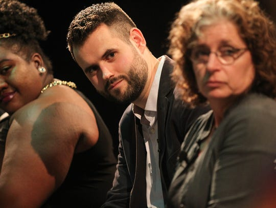 Zach Wahls takes a question from David Gould's students