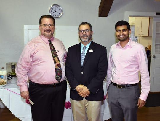 David Moshier, Dr. Daniel Glotzer and Dr.-Raj-Rajpara