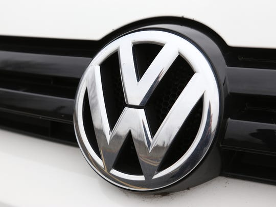 The logo on a Volkswagen in Auburn Hills in November 2013.