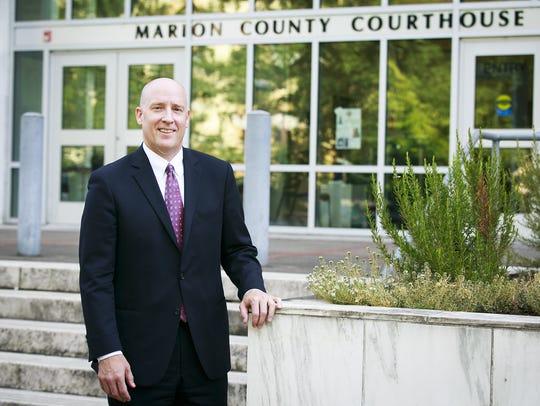 Marion County District Attorney Walt Beglau outside