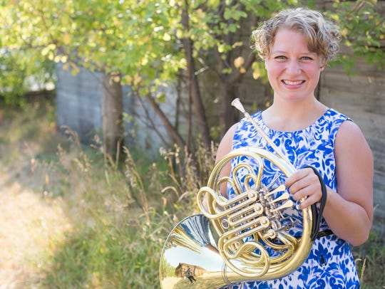 Madeleine Folkerts, who plays French horn, joined the