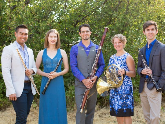 The Chinook Winds, from left, consists of flutist Norman