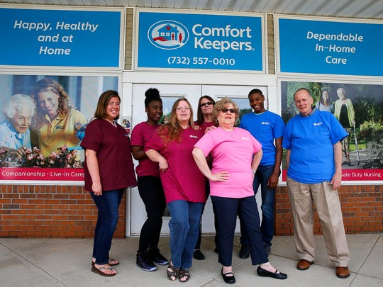 Comfort Keepers caregivers are shown at the Mule Road facility in Toms River Thursday, September 14, 2017.