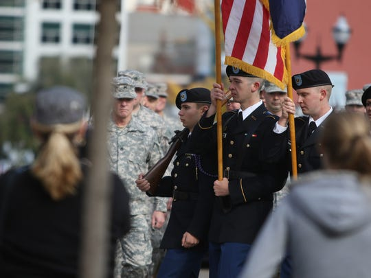 Springfield residents showed up downtown to support those who served at the Veterans Day Parade Saturday, November 6, 2015.