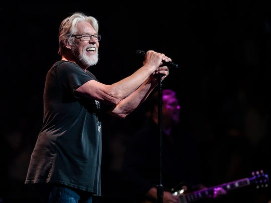 Bob Seger and The Silver Bullet Band performs on stage at The Palace of Auburn Hills in Auburn Hills, Saturday, September 23, 2017.