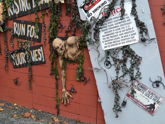 The Haunted Village at the historic Red Mill in Clinton