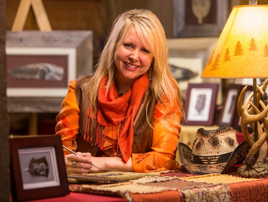 Tina Richards, Wildlife Feather Painter, at Silver