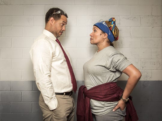 "Ella Joyce and Brian Marable in ""Skeleton Crew"" at"