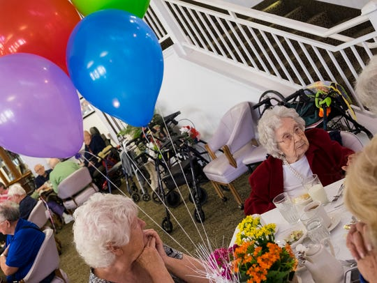 Marjorie Dinger celebrated her 105th birthday Oct.