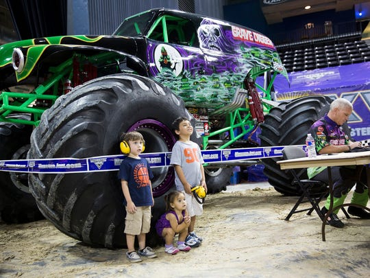 Monster Jam will begin at 7 p.m. Saturday and at 2 p.m. Sunday at American Bank Center, 1901 N. Shoreline Blvd.