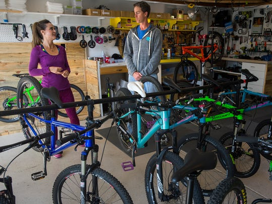 Trailcraft Cycles co-founders Ginger and Brett Rosenbauer