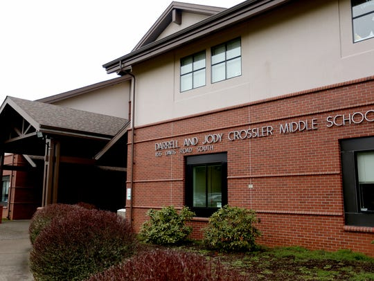 Crossler Middle School in Salem. Photographed on Thursday,