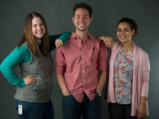 From left, Coloradoan storytelling coach Sarah Kyle,