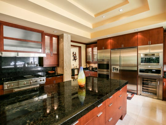 The kitchen is so high-style, streamlined and ready