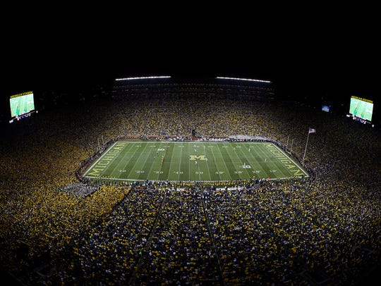 Michigan Stadium during the game between the Michigan