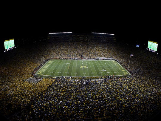 Michigan Stadium during the game between the Michigan Wolverines and the Michigan State Spartans on Oct 7, 2017 in Ann Arbor.