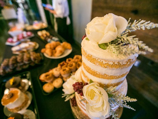 Pastries from Holiday Market's bakery are on display during the Detroit Free Press/Metro Detroit Chevy Dealers' Whisked: A Holiday Baking Event at Great Lakes Culinary Center in Southfield, Mich. on Sunday, Nov. 13, 2016.