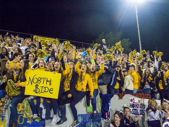 The Port Huron Northern High School student section