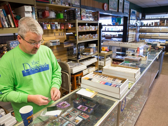 James McWhorter, owner of The Dugout, a sports memorabilia