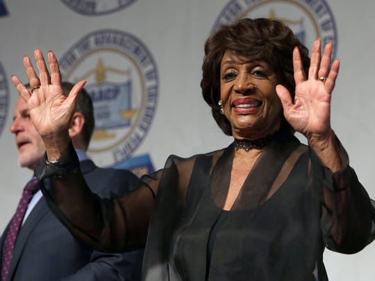 U.S. Congresswoman Maxine Waters greets the crowd during the annual Freedom Fund dinner of the Detroit; her activism on behalf of women and minorities stepped into a bright spotlight in 2017.