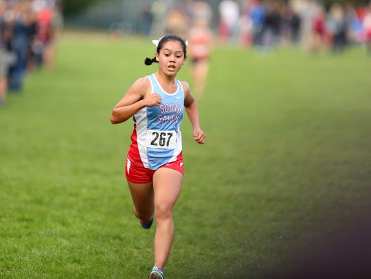 South Salem's Anna Chau competes in the Greater Valley