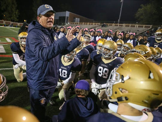 Cathedral Fighting Irish head coach Rick Streiff talks