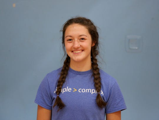 Emma Howell, a senior setter with South Salem volleyball.