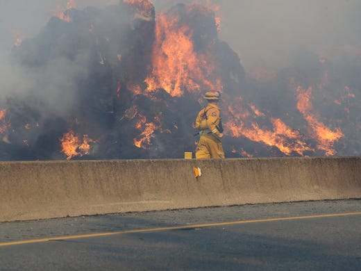UPDATE: All lanes of I-5 north of Redding open after fire