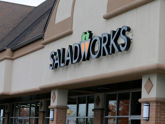 Exterior of Saladworks in Piscataway, NJ Wednesday