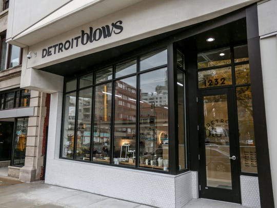 Detroit's newest blow-dry bar, Detroit Blows, is located on Library Street on the ground floor of the Z Garage downtown, photographed on Wed., Oct. 25, 2017.