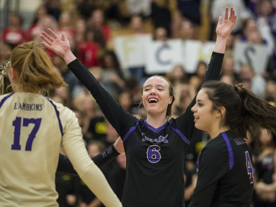 The Fort Collins High School volleyball team is one