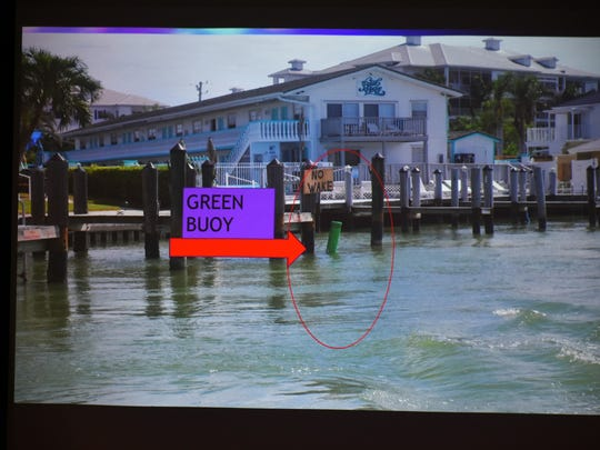 "The ever-treacherous Collier Creek inlet has gained new difficulty. Wednesday morning, the US Coast Guard Auxiliary presented a program at Rose Hall in the library titled ""Post IRMA Conditions on the Marco Waterways."""