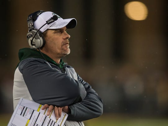 Colorado State head coach Mike Bobo stands on the sideline earlier this month.