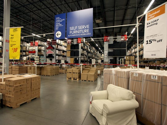 Self-service area at the IKEA store in Canton was part