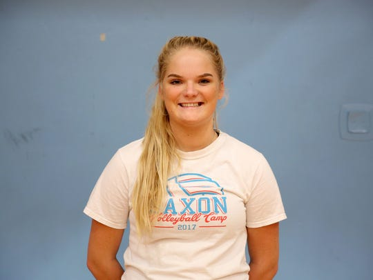 Bridgette O'Connor, a senior outside hitter with South