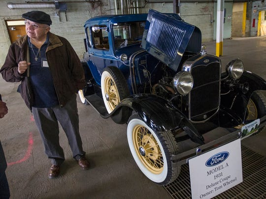 A 1931 Ford Model A owned by Tom Whetsel is on display during a sold-out open house held by Indiana Landmarks at the former Ford manufacturing plant in Indianapolis, Saturday, Nov. 11, 2017. From 1915 to 1932, the plant produced almost 600,000 automobiles. TWG Development now owns the building, which will become a living and retail space.