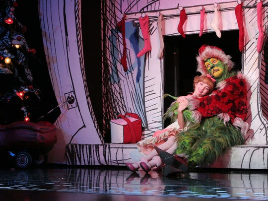 """""""Dr. Seuss' How the Grinch Stole Christmas! The Musical""""  will be at the Fox for six performances Friday-Sunday."""
