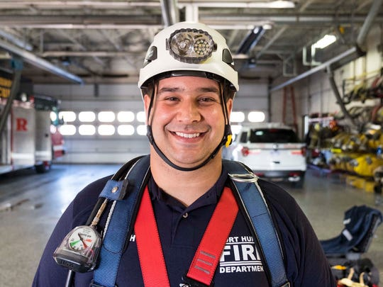 Port Huron Fire Department new hire Peter Lafata.